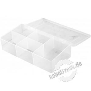Sortimentsbox für Kleinteile mit 5 Fächern, 180 x 95 x 40 mm