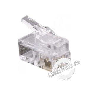 Modularstecker für Flachkabel, ungeschirmt, 4P4C (RJ10), VE: 10