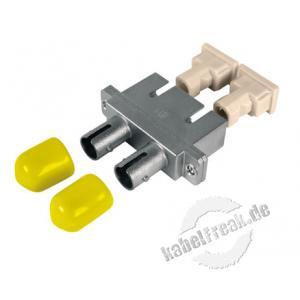 LWL Kupplung SC/ST, Duplex, Singlemode, Metall-Gehäuse mit Keramik-Ferrule