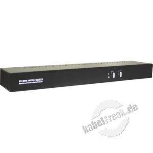 Dexlan KVM Switch DVI für bis zu 4 Bildschirme Ideal für die Steuerung mit einer Maus und einer Tastatur