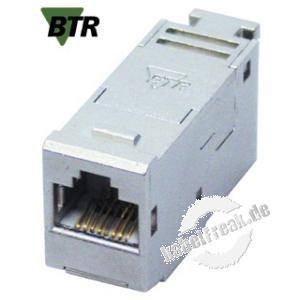 MetzConnect E-DAT modul Anschlussbuchse, Cat.6A Zum Einbau in Modulträger oder IP 44 Aufputzgehäuse