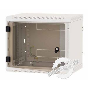 Triton RBA-06-AS6-CAX-A1, 19' Wandschrank einteilig 6HE 595mm, Vollglastür der Klassiker für Mittelgroße Installationen