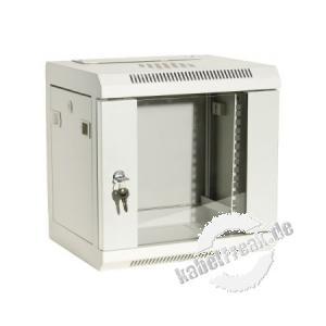 Dexlan 10' Wandgehäuse, 6 HE, RAL 9010 weiß günstiges Wandgehäuse für private oder kleinere betriebliche Anwendungen