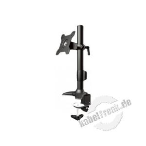 Aavara Tischhalter TC011 für Flachbildschirme 38 - 61 cm (15', 24'), schwarz Monitorhalter mit Klemmfuß zur Montage an Tischplatten, VESA 100 x 100 mm / 75 x 75 mm, belastbar bis zu 12 kg