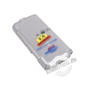 USB 2.0 Mini Hub, 4 Port Kompakter USB-Hub, ideal auch für unterwegs