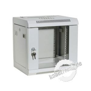 Dexlan 10' Wandgehäuse, 6 HE, RAL 7035 grau günstiges Wandgehäuse für private oder kleinere betriebliche Anwendungen