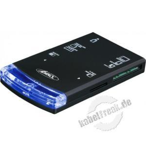 USB 2.0 Card Reader und SIM Card Reader Kompakter Kartenleser für Speicherkarten und SIM Karten