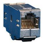 MetzConnect E-DATmodul Kupplung 8(8) Cat.6 RJ45 Buchse / Buchse Adapter zum Einbau in Modulträger oder IP44 Aufputzgehäuse