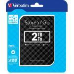 Verbatim Store'n'Go portable Festplatte 2 TB, USB 3.0, schwarz (2,5''), 6,35 cm, HDD