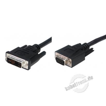 DVI Monitorkabel, analog, 12+5pol DVI-A St./15pol HD D-Sub St., 3,0 m Zum Anschluss von DVI-Monitoren und Beamern mit analogem Eingang an S-VGA Grafikkarten