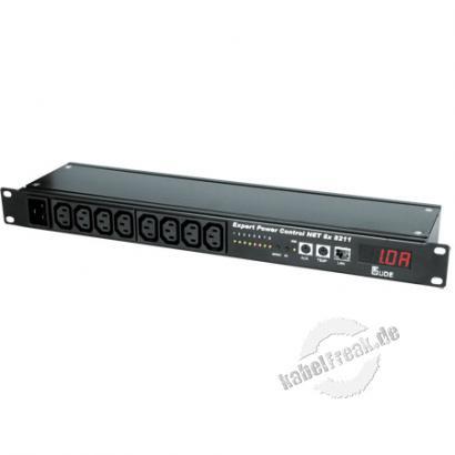 Gude Expert Power Control 8x 8211, 8-fach, 19', Stromanschlüsse frontseitig Der Remote Power Switch für TCP/IP-Netzwerke
