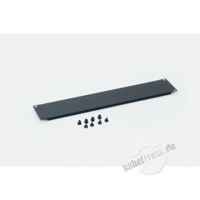Triton 19' Blindplatte, steckbar, 2 HE, Stahlblech, schwarz RAL 9005, mit Kunststoffstöpsel Zur Abdeckung der freien Räume zwischen den 19' Profilen
