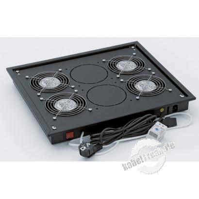 Triton Ventilationseinheit für Dach- und Bodeneinbau, 4 Lüfter, schwarz RAL 9005 Zur Belüftung der Triton-Netzwerkschränke RMA, RZA und RDA