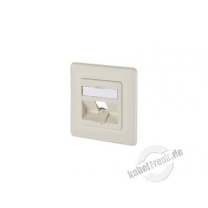 MetzConnect Datendose Modul Anschlussdose, UP, Unterputz, 1 Port unbestückt, perlweiß Zum Anschluss von einem PC