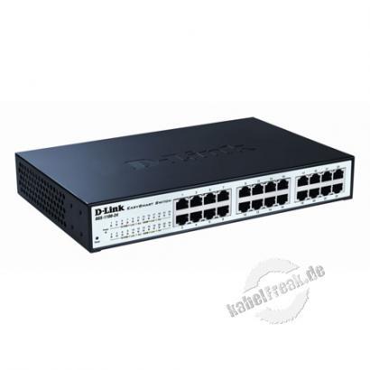 D-Link Layer 2 Easy Smart Gigabit Switch DGS-1100-24V2, 24 Port, Desktop Layer 2 Easy Smart Gigabit Switch zum Anschluss von bis zu 24 PCs an ein Gigabit Ethernet Netzwerk