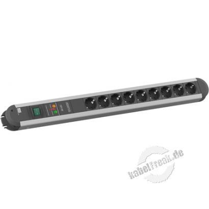 Bachmann Steckdosenleiste 'Primo', 9-fach, mit Schalter, Anschlussleitung 1,75 m Steckdosenleiste für den Profi