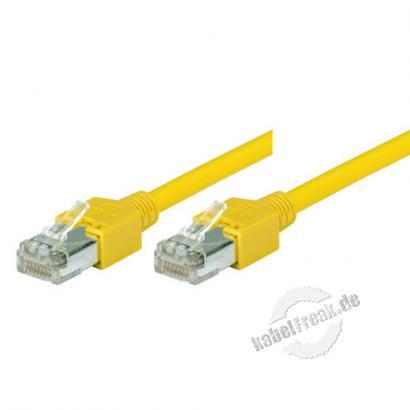 Tecline Patchkabel Cat. 5e, S/UTP, hochflexibel, gelb, 2,0 m Hochflexibles Premiumpatchkabel mit Dätwyler Rohkabel und Hirose Steckern