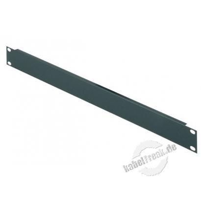 Triton 19' Blindplatte, 1 HE, Stahlblech, schwarz RAL 9005 Zur Abdeckung der freien Räume zwischen den 19' Profilen