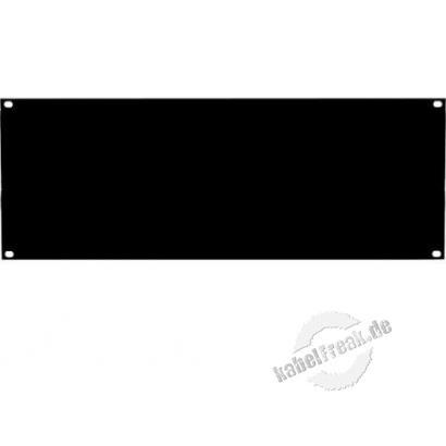 Dexlan 19' Blindplatte, 4 HE, schwarz Zur Abdeckung der freien Räume zwischen den 19' Profilen
