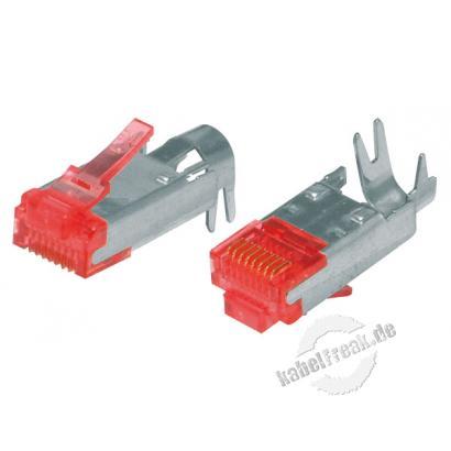 Hirose Modularstecker TM21, Cat.6 (nur Stecker ohne Knickschutztülle und Kabelführung 'Guide Plate') RJ45 Stecker für Patchkabel