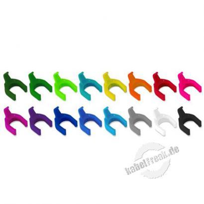 Patchsee PatchClips, Box mit 50 Stück, grau Abnehmbare Clips für ein leichtes und schnelles Auswechseln desKabelerkennungssystems
