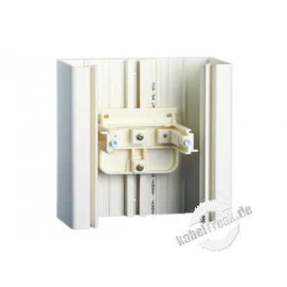MetzConnect Montagehalter 1308895540-I, T-Nut 55mm, ohne Trennschale senkrecht, schwarz T-Nut-Befestigung, senkrecht passend zu Kanälen von Tehalit, OBO/Bettermann, ASYCO und Alusor
