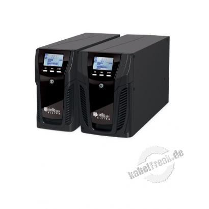 Riello VST 800 Vision Desktop USV, 800 VA / 640 Watt, mit LCD-Display, ECO LINE Produkt Stromversorgung mit Line-Interactive-Technologie für besten Schutz von Netzwerk-Peripheriegeräten, konventionellen Servern und Netz-Backup-Systemen