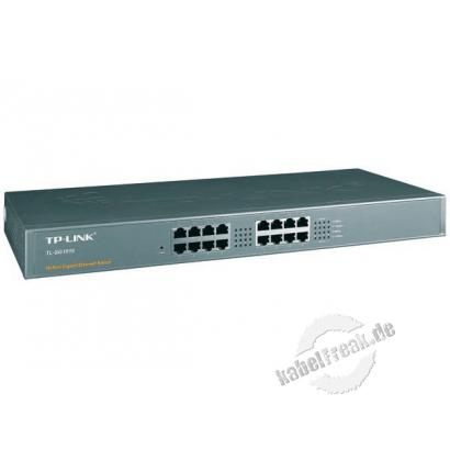 TP-Link Gigabit Switch, 16 Port, 19' Switch zum Anschluss von bis zu 16 PCs an ein Gigabit Ethernetk
