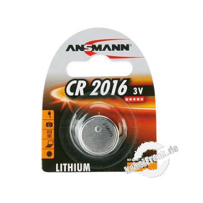 Ansmann Knopfzelle, CR 2016 (3V), VE: 1