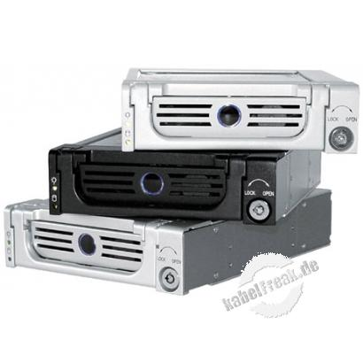 ICY BOX Festplattenwechselrahmen, SATA II, 3,5', Hot Swap, High Quality, schwarz Aluminium-Wechselrahmen für Festplatten mit SATA Anschluss an SATA Controller