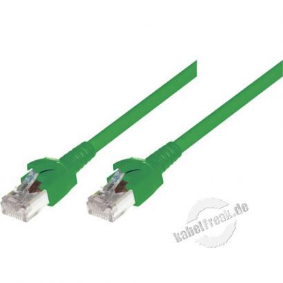 Dätwyler Patchkabel S/FTP, PiMF, Cat.6A, grün, 5,0 m Premium Patchkabel, Dätwyler CAT.7 Rohkabel, Dätwyler Stecker, halogenfrei