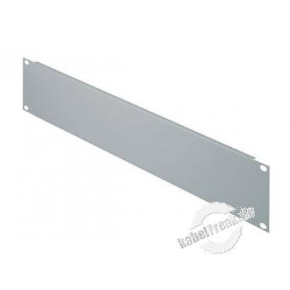 Triton 19' Blindplatte, 2 HE, Stahlblech, hellgrau RAL 7035 Zur Abdeckung der freien Räume zwischen den 19' Profilen