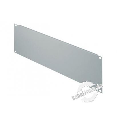 Triton 19' Blindplatte, 3 HE, Stahlblech, hellgrau RAL 7035 Zur Abdeckung der freien Räume zwischen den 19' Profilen