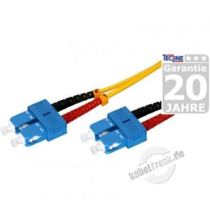 LWL Patchkabel, 9/125 µm, OS2-Faser, SC Duplex Stecker/Stecker, gelb, 3,0 m UPC-Schliff