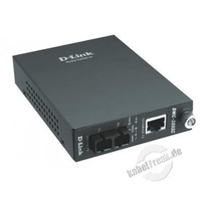 D-Link Medienkonverter, 100/10 Mbit/s, RJ45 an LWL SC, Multimode, 2 km Zur Konvertierung von Fast Ethernet bzw. Gigabit Ethernet auf Kupferleitungen in LWL und umgekehrt