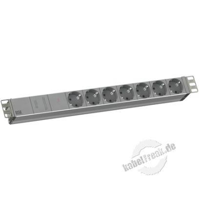 Bachmann 19' PDU Basic, Steckdosenleiste mit Netz- und Frequenzfilter , 7-fach Schutzkontaktsteckdose