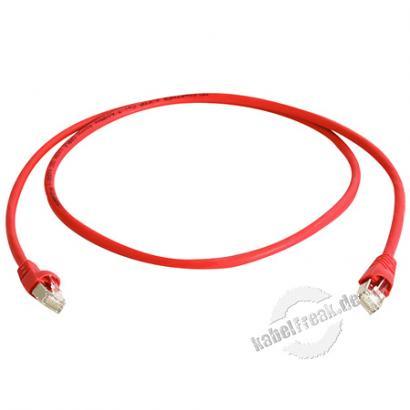 Telegärtner Patchkabel Cat. 6A ISO/IEC, S/FTP (PiMF), halogenfrei, rot, 7,5 m Für 10 Gigabit/s, halogenfrei, mit Telegärtner Kabel und Telegärtner-Steckern