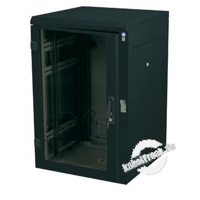 Triton 19' Netzwerkschrank RZA, 27 HE, 800 x 900 mm, schwarz RAL 9005 Netzwerkschrank mit 4 Holmen, komplett zerlegbar