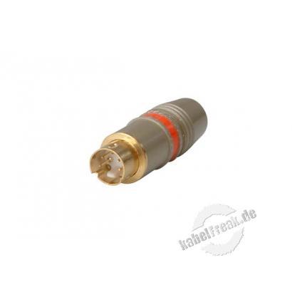 S-Video ('Hosiden') Stecker, 4pol Mini DIN Stecker, Vollmetall High Quality Steckverbinder für Videokabel