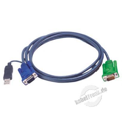 Oktopuskabel USB, 5,0 m Zum Anschluss eines PCs an Arbeitskonsolen und KVM-Switche