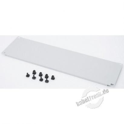 Triton 19' Blindplatte, steckbar, 3 HE, Stahlblech, hellgrau RAL 7035, mit Kunststoffstöpsel Zur Abdeckung der freien Räume zwischen den 19' Profilen