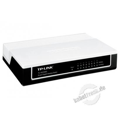 TP-Link Gigabit Switch TL-SG1008D V6.0, 8 Port, Desktop Switch zum Anschluss von bis zu 8 PCs an ein Gigabit Ethernet Netzwerk