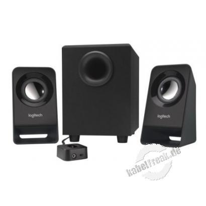Logitech Lautsprecher-System Z213, 7 Watt (effektiv), schwarz Tiefen, die unter die Haut gehen