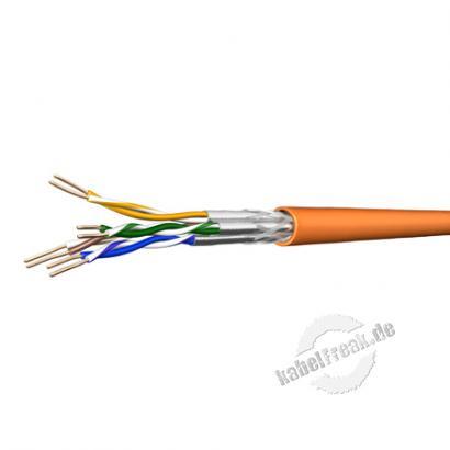 Draka Installationskabel UC900 HS23,Cat. 7, S/FTP (PiMF), halogenfrei, orange, 250 m Einwegtrommel Paarweise und gesamtgeschirmtes Netzwerk-Installationskabel