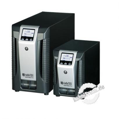 Riello SEP 1500-5 Sentinel Pro Tower-Serie USV, 1500 VA / 1200 Watt, LCD-Anzeige, Online USV Stromversorgung mit  ONLINE Doppelumwandlungstechnologie ohne Umschaltzeit, für kleine bis mittlere Computernetze, Local Area Networks (LAN), Workstations, Server