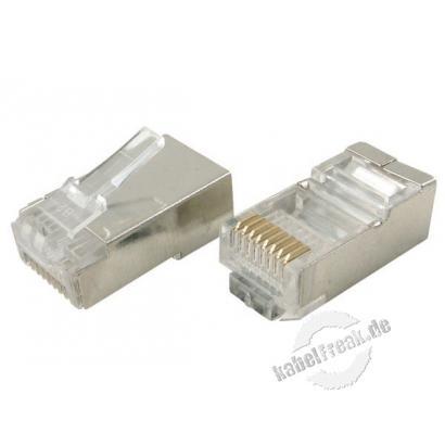 Modularstecker für Rundkabel, geschirmt, 8P8C (RJ45), VPE 10 Stück