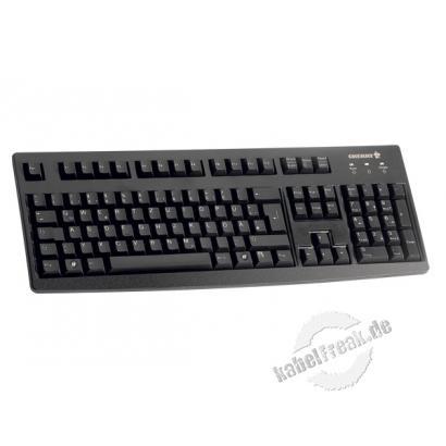 Cherry Tastatur G83-6105 STANDARD, USB, schwarz Standard-Tastatur mit USB Anschluss