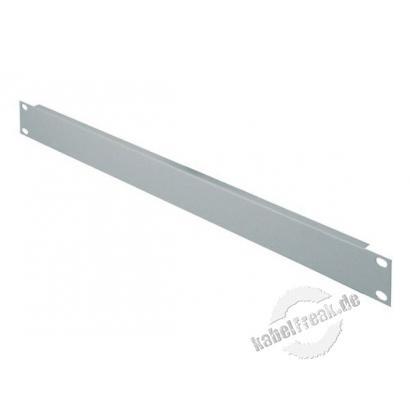 Triton 19' Blindplatte, 1 HE, Stahlblech, hellgrau RAL 7035 Zur Abdeckung der freien Räume zwischen den 19' Profilen