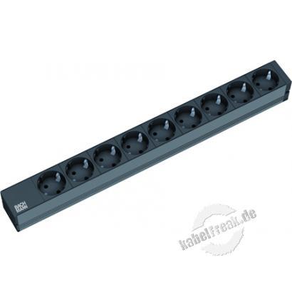Bachmann 19' PDU Basic, Steckdosenleiste, 9-fach Schutzkontaktsteckdose, schwarz
