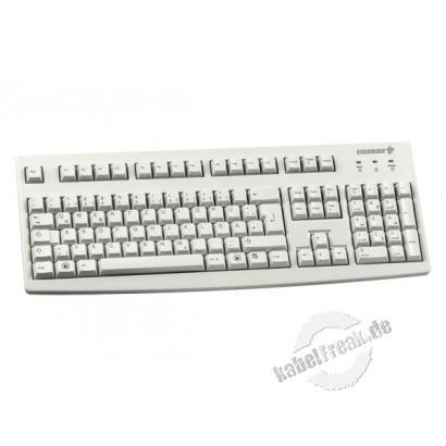 Cherry Tastatur G83-6105, STANDARD, USB, hellgrau Standard-Tastatur mit USB Anschluss